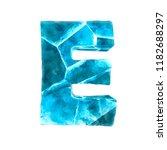 ice alphabet on white...   Shutterstock . vector #1182688297