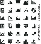 solid black flat icon set... | Shutterstock .eps vector #1182690067