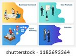 set of business vector  ... | Shutterstock .eps vector #1182693364