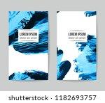 set of vector business card... | Shutterstock .eps vector #1182693757