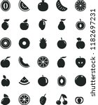 solid black flat icon set apple ... | Shutterstock .eps vector #1182697231