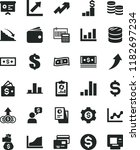 solid black flat icon set... | Shutterstock .eps vector #1182697234