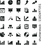 solid black flat icon set... | Shutterstock .eps vector #1182697351