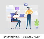 business office workplace man... | Shutterstock .eps vector #1182697684