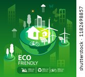 eco green city.save the world... | Shutterstock .eps vector #1182698857