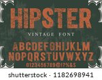 font handcrafted typeface... | Shutterstock .eps vector #1182698941