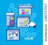 search engine optimization set... | Shutterstock .eps vector #1182717517