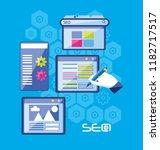 search engine optimization set... | Shutterstock .eps vector #1182717517
