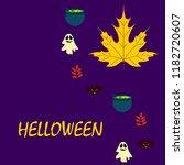 halloween autumn fallen leaves... | Shutterstock .eps vector #1182720607