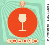 wineglass icon symbol | Shutterstock .eps vector #1182723061