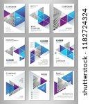 blue abstract presentation...   Shutterstock .eps vector #1182724324