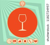 wineglass symbol icon | Shutterstock .eps vector #1182724957