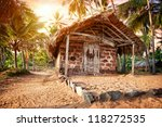 Fishermen Hut In The Tropical...