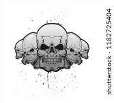 skulls in a row against a...   Shutterstock .eps vector #1182725404
