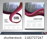 red annual report brochure... | Shutterstock .eps vector #1182727267