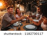 cropped shot of a group of... | Shutterstock . vector #1182730117