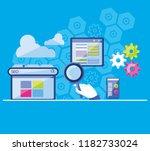 search engine optimization set... | Shutterstock .eps vector #1182733024