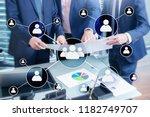 hr   human resources management ... | Shutterstock . vector #1182749707