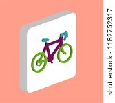 bicycle icon simple vector icon.... | Shutterstock .eps vector #1182752317
