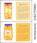 canned oranges and peaches... | Shutterstock .eps vector #1182755881