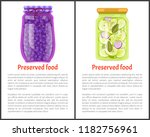preserved food posters ... | Shutterstock .eps vector #1182756961