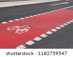 bicycle lane in stockholm ... | Shutterstock . vector #1182759547