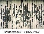 grungy peeling painted metal... | Shutterstock . vector #118276969