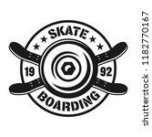 skateboarding vector emblem... | Shutterstock .eps vector #1182770167