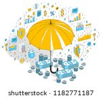 insurance policy concept ... | Shutterstock .eps vector #1182771187