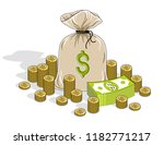 cash riches and wealth  money... | Shutterstock .eps vector #1182771217