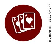 playing cards aces icon in...