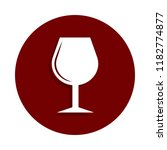 wineglass icon in badge style.... | Shutterstock .eps vector #1182774877