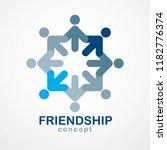 teamwork businessman unity and... | Shutterstock .eps vector #1182776374
