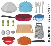 vector kitchenware and cooking... | Shutterstock .eps vector #1182779647