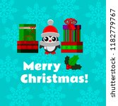 christmas greeting card with a... | Shutterstock .eps vector #1182779767