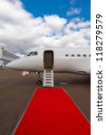 white private jet and open...   Shutterstock . vector #118279579