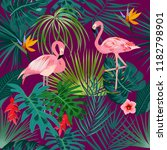 seamless pattern of exotic... | Shutterstock .eps vector #1182798901