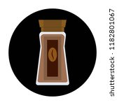 coffee glass jar icon. instant... | Shutterstock .eps vector #1182801067