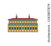 cathedral architecture icon.... | Shutterstock .eps vector #1182807874