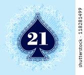vector spade ace | Shutterstock .eps vector #118281499