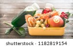breakfast or lunch with healthy ... | Shutterstock . vector #1182819154