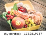 breakfast or lunch with healthy ... | Shutterstock . vector #1182819157