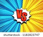 comic versus bursting template... | Shutterstock .eps vector #1182823747