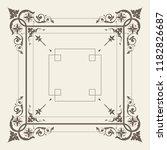 vector vintage decorative... | Shutterstock .eps vector #1182826687