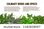 hand drawn frame with culinary... | Shutterstock .eps vector #1182828007