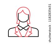 employee woman flat vector icon. | Shutterstock .eps vector #1182835651