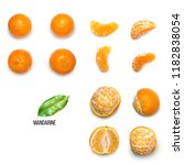 fresh delicious mandarins ...   Shutterstock . vector #1182838054