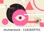 minimal geometric web banner... | Shutterstock .eps vector #1182839701