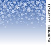 vector snowflakes falling on... | Shutterstock .eps vector #1182845251