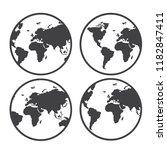 globe world map vector icon   Shutterstock .eps vector #1182847411